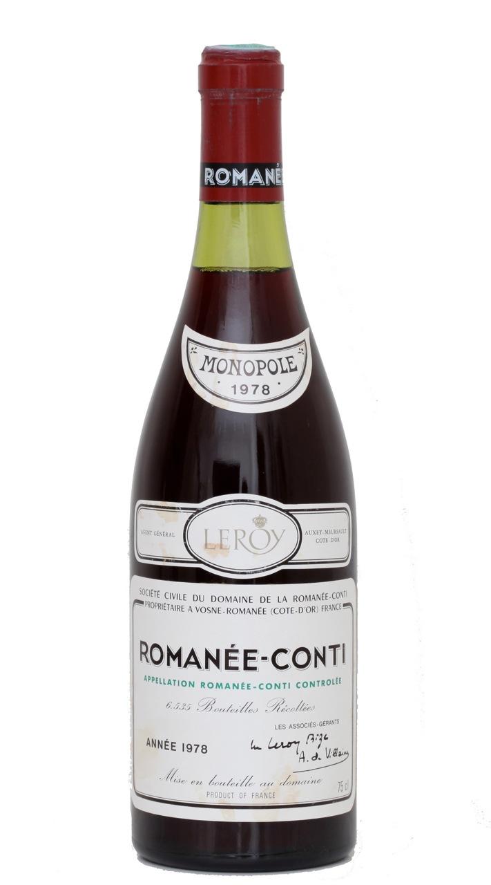 Roman 233 e conti drc 1978 cmonvin buy fine and rare wines